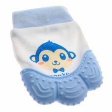Прорезыватель рукавичка «Обезьянка Манки», цвет синий Крошка Я