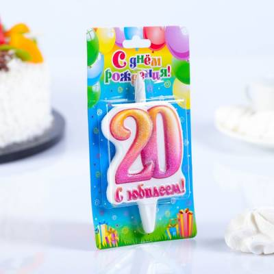 Свеча в торт цифра