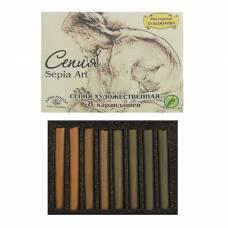 Сепия светлая/тёмная, 4 цвета, 8 шт, «Мастерская художника», в картонной коробке Аква-Колор