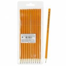 Набор чёрнографитных карандашей Koh-I-Noor 1696 разной твердости, 10 штук, 2H-2B Koh-i-Noor