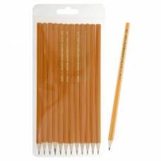 Набор чёрнографитных карандашей Koh-I-Noor 1696 разной твердости, 12 штук, 2H-2B Koh-i-Noor