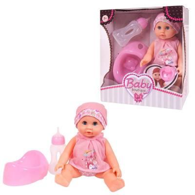 Кукла-пупс Baby Boutique с аксессуарами (пьет, писает), 25 см Junfa Toys