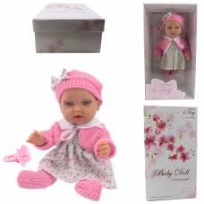 Интерактивный пупс Premium Baby Doll в платье и вязаном болеро (звук), 28 см  1TOY