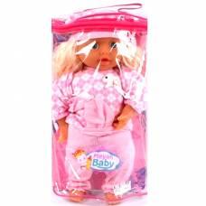 Кукла Meyan Baby в розовом костюме, в сумке, 37 см Shenzhen Toys