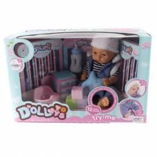 Озвученный пупс с аксессуарами (пьет, писает) Ledy Toys (куклы)