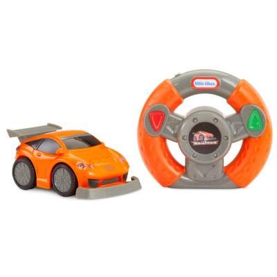Оранжевый спорткар YouDrive Red Muscle Car с рулем на р/у Little Tikes