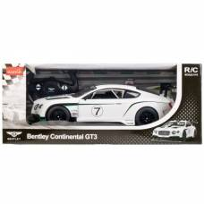 Машина на радиоуправлении Bentley continental GT3 со светом, цвет белый Star