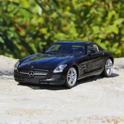 Машина радиоуправляемая Mercedes-Benz SLS AMG, масштаб 1:14, работает от аккумулятора, свет , цвет чёрный, mz 2024 Gamze