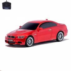 Машина радиоуправляемая BMW M3, 1:24, работает от батареек, свет, цвет красный GUOKAI