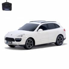 Машина радиоуправляемая Porsche Cayenne Turbo, 1:18, работает от батареек, свет, цвет белый GUOKAI