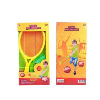 Бадминтон и теннис, в комплекте 2 ракетки, мяч и воланчик ABtoys