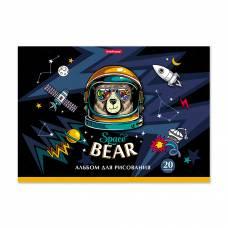 Альбом для рисования Space Bear, клеевая основа Erich Krause