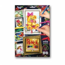 Набор для раскрашивания карандашами по номерам Pencil By Numbers  Данко Тойс / Danko Toys
