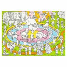 Плакат-раскраска для малышей «В цирке», 50 х 70 см Геодом