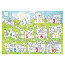Плакат-раскраска для малышей «Цифры», 50 х 70 см Геодом