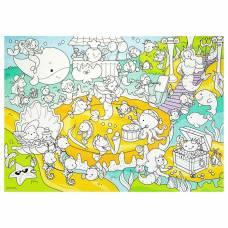 Плакат-раскраска для малышей «В океане», 50 х 70 см Геодом