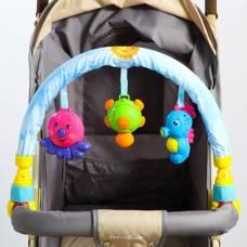 Дуга игровая мягкая на коляску/кроватку «Морские друзья» Sima-Land