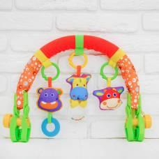 Дуга игровая мягкая на коляску/кроватку «Афирика» Sima-Land