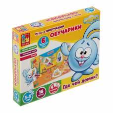 Игра настольная с липучками «Обучарики. Где чей домик?» Vladi Toys