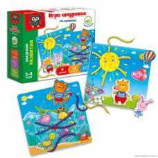 Игра-шнуровка с липучками «На природе» Vladi Toys