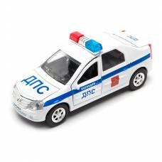 Инерционная машина Renault Logan - Полиция (свет, звук), 12 см Технопарк