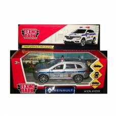Металлическая машина Renault Koleos - Полиция, 12 см Технопарк