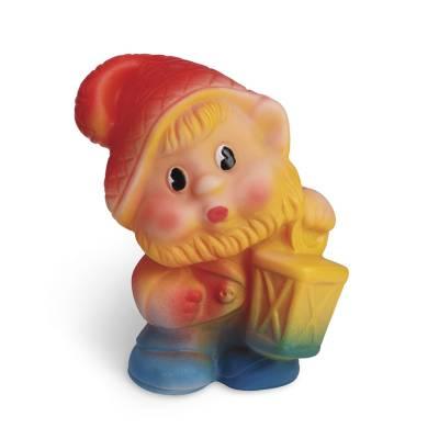 Резиновая игрушка Гномик Кнопка 13 см Завод Огонек