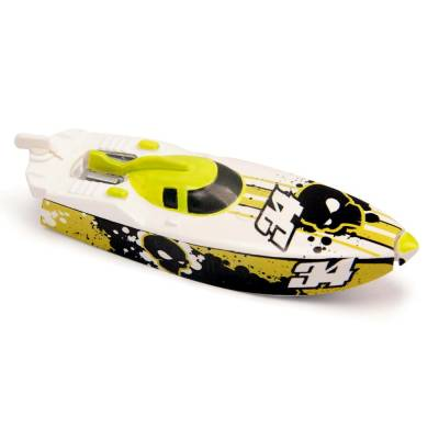 Роболодка Micro Boats ZU34, бело-желтая Zuru