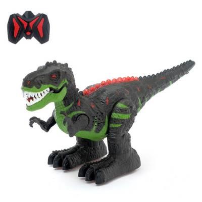 Динозавр радиоуправляемый T-REX, двигает головой, работает от батареек, свет и звук Sima-Land