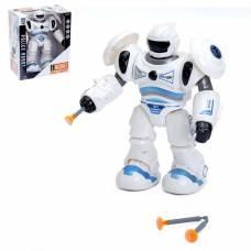 Робот «Полицейский» стреляет присоской, световые и звуковые эффекты, цвета МИКС Sima-Land
