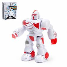 Робот «Ракетчик» световые и звуковые эффекты, стреляет ракетами, работает от батареек, цвета МИКС Sima-Land