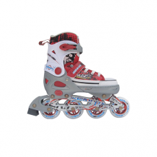 Раздвижные роликовые коньки, серо-красные, размер L (40-43) Trans Roller