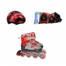 Раздвижные роликовые коньки с защитой и шлемом, р. 38-41 Navigator