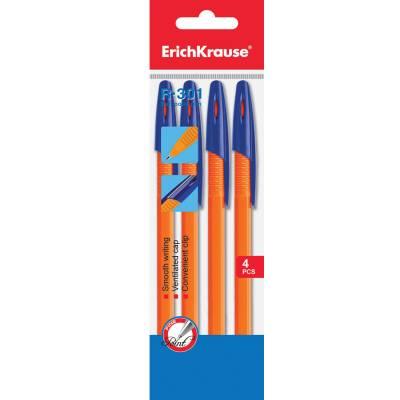 Набор шариковых ручек R-301-orange, 4 шт. Erich Krause