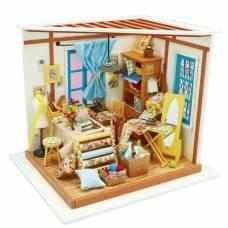 Интерьерный конструктор DIY House - Ателье (свет)  Robotime