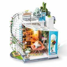 Интерьерный конструктор DIY House - Уютный лофт (свет) Robotime