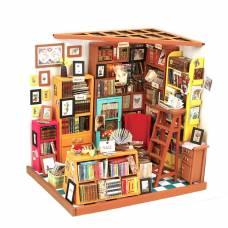 Интерьерный конструктор DIY House - Книжная лавка (свет) Robotime