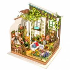 Интерьерный конструктор DIY House - Терраса садовника (свет) Robotime