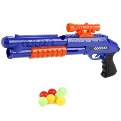 Детское ружье с шариками, синее Играем Вместе