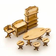 Сборная деревянная модель мебели для кукол