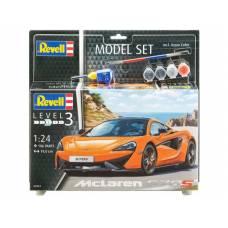 Подарочный набор со сборной моделью автомобиля McLaren 570S, 1:24 Revell