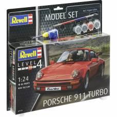 Подарочный набор со сборной моделью автомобиля Porsche 911 Turbo, 1:24 Revell