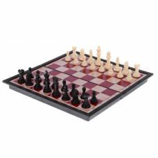 Игра настольная «Шахматы» классические, доска объёмная, 18х36 см Sima-Land