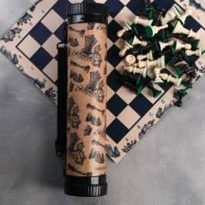 Шахматы в тубусе «Лучшему из лучших», р-р поля 33 × 33 см Sima-Land