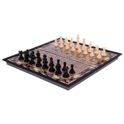 Игра настольная «Шахматы», поле в клетку с узором, 18х36 см Sima-Land