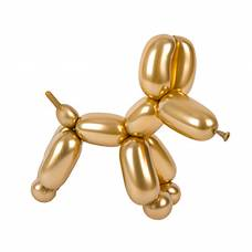 Шар для моделирования 260, хром, набор 100 шт., цвет золотой Альбатрос