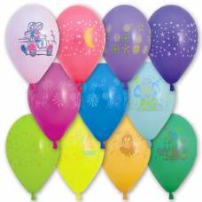 Ассорти воздушных шаров Gemar с рисунком, 100 шт. Europa Uno Trade