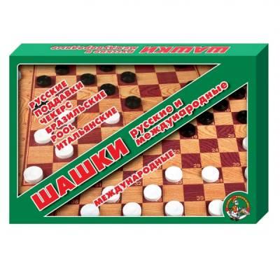Набор для игры в шашки с двусторонним полем  Десятое Королевство