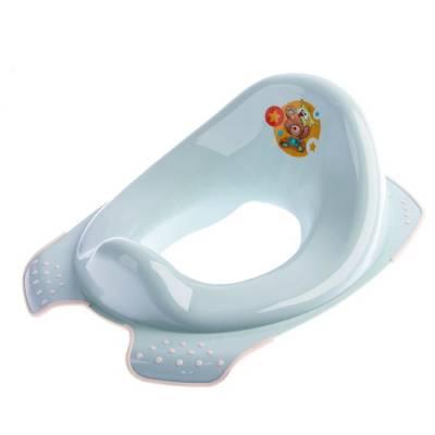 Детская накладка на унитаз «Мишка» антискользящая, цвет голубой Крошка Я