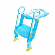 Накладка на унитаз детская со ступенькой, с мягким сиденьем, цвет голубой Sima-Land